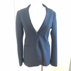 Theory size 12 black womens blazer